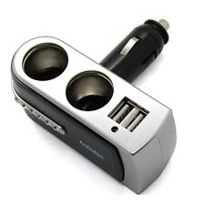 2 Way Dual USB Car Cigarette Lighter Socket Splitter Charger Power Adapter