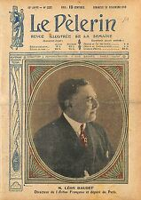 Portrait Léon Daudet Directeur Action Française Député Paris 1919 ILLUSTRATION