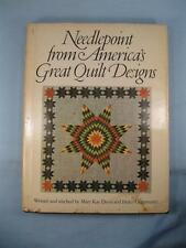 Needlepoint From Americas Great Quilt Designs Vintage Book Mary Kay Davis (O2)