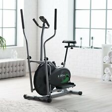 Body Rider BRD2000 Elliptical Dual Trainer with Seat, Black