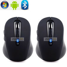 2x Wireless Bluetooth Mouse Optical Gaming Mice 1600 DPI for Macbook PC Laptop