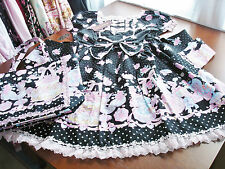 Bodyline Sweet Lolita Black Squirrel Party OP Dress and Bag Set Size L NWT