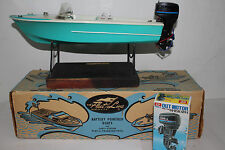 """1960's Fleetline """"The Wizard"""" Battery Operated Boat with Original Box"""