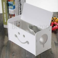 Smiley Cable Storage Box Socket Safety Organiser Tidy Wire Management Solution