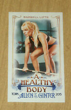 2015 Topps Allen/Ginter mini card SP Healthy Body BARBELL LIFTS BODY-8