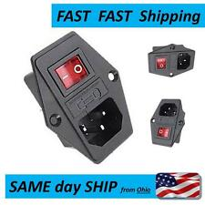 10A max - 120V Inlet Module Plug Fuse Switch Male Power Socket  IEC320