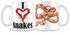 Me encanta serpientes boa constrictor Taza Reptiles Serpiente Personalizable