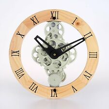 Maple's Clock GCL06-333W Moving Gear Wall Clock Gear Style 333
