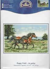 DMC BK920 Poppy Field (Horses) Counted Cross Stitch Kit