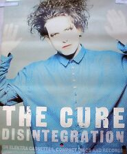RARE THE CURE DISINTEGRATION 1989 VINTAGE ORIG RECORD ALBUM PROMO POSTER