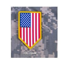 Milspec Monkey MSM PVC Patch US American Flag Vertical Shield FULL COLOR - NEW