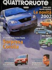 Quattroruote 555 2002 Al volante nuova Toyota. Prova VW, Polo alla frusta [Q.62]
