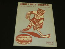 1966 1967 AHL HERSHEY BEARS PROGRAM VS PROVIDENCE REDS  NOEL PICARD EX PLUS