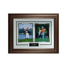 Payne Stewart unsigned 2 Photo Signature Series 21x25 Leather Framed