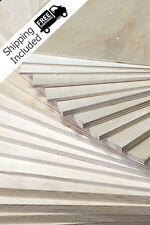 """BALTIC BIRCH PLYWOOD 1/8"""" (3mm) BY APPROX 12"""" X 12"""" - 40 PIECES"""