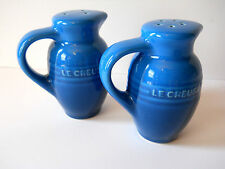 Le Creuset Salt and Pepper Shakers NEW Marseille Cobalt Blue Jug FREE Shipping