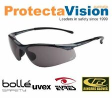 New Bolle Sidewinder Sunglasses Safety Glasses Smoke Lens Sunnies