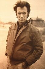 CLINT EASTWOOD photo Dirty Harry Callahan B&W hard-ass on beach 1972