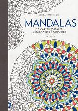 ART THERAPIE MANDALAS 20 CARTES POSTALES A DETACHER anti-stress
