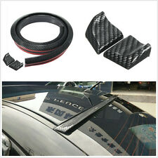 DIY 1.5m Black Carbon Fiber Surface Car Truck Rear Spoiler Lip Protector Sticker