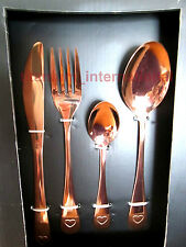 16 Piece Cutlery Set Copper Heart Rose Gold SLEEK AND STYLISH