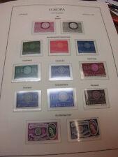 Sammlung Europa CEPT 1960-1969 postfrisch komplett incl. Liechtenstein (8019)