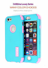 CASEdna 3 in1 Hybrid 3 Layer Front Cover & Back Case For Apple iPhone 5 or 5S