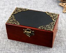 Vintage Rectangle Black Cover Music Box: Howl's Moving Castle Theme