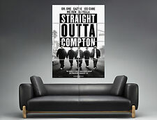 NWA Straight Outta Compton RAPPER FILM HIP HOP   Wall Poster Grand format A0