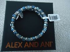 Alex and Ani ARCTIC WISH Rafaelian Silver Wrap Bangle New W/ Tag Card & Box