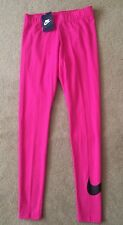 Haut femme Nike swoosh leggings pantalon capri casual yoga gym rose course rrp £ 34.99
