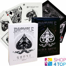 2 DECKS BICYCLE ELLUSIONIST GHOST WHITE AND BLACK 2ND EDITION PLAYING CARDS NEW