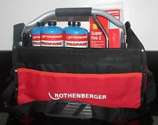 Rothenberger Hot Bag Deal with Superfire 2 Torch + 4 Propane Gas Cylinders