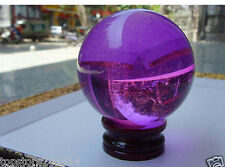 40mm+Stand Beautiful Asian Glass Purple Magic Healing Ball Sphere