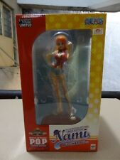 One Piece P.O.P Nami Mugiwara Ver. Megatres Megahouse Sealed Toei Silver Sticker