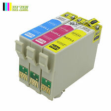 3PK T127 Color Ink Cartridge for Epson WorkForce WF3520 7010 3540 545 7510 NX625