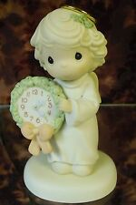 "Precious Moments-#455849 ""Time For A Holy Holiday"" Angel Holding Clock- NIB"