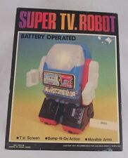 Super TV Robot toy Hong Kong moving battery vintage old boxed 70s opened used