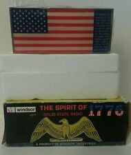 Brand New SealedRARE Vintage WINDSOR solid State Radio USA PATRIOTIC FLAG Design