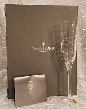 1 Pair Boxed Waterford Crystal Flute ~ Ballet Ribbon Essence ~ FREE SHIPPING!