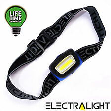 Ultra Bright COB LED Headlight Head Torch Light Camping Fishing Work Flashlight