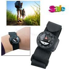 New Watchband Compass Black Nylon Band With Velcro Closure Compass Hiking Trip