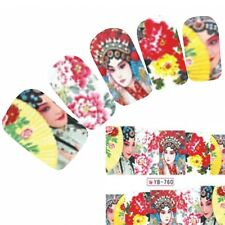 Tattoo Nail Art Aufkleber Japan Geisha Manga Water Decall Neu!