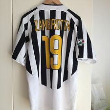 ZAMBROTTA 04 05 AS MATCH WORN ISSUE JUVENTUS ITALY 2004 2005 SCUDETTO FASTWEB