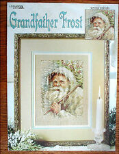 PATTERN counted cross stitch GRANDFATHER FROST SANTA christmas 2000 leaflet new