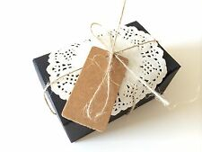 12PCS Wedding/Party Rectangle Black Bomboniere Favour Boxes / Lolly Boxes