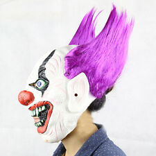 Scary Adult Red Hair Clown Mask Latex Halloween Costume Accessory