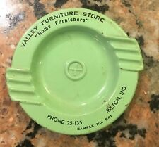 """1950's Valley Furniture Sample Ashtray 4.75"""""""