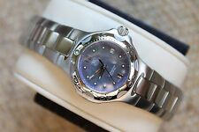 Tag Heuer WL131H Purple MOP SS Kirium Watch Womens Quartz Mint Crystal $1K