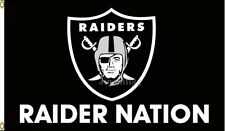 Oakland Raiders Raider Nation Flag Banner New 3x5FT Polyester NFL, free shipping